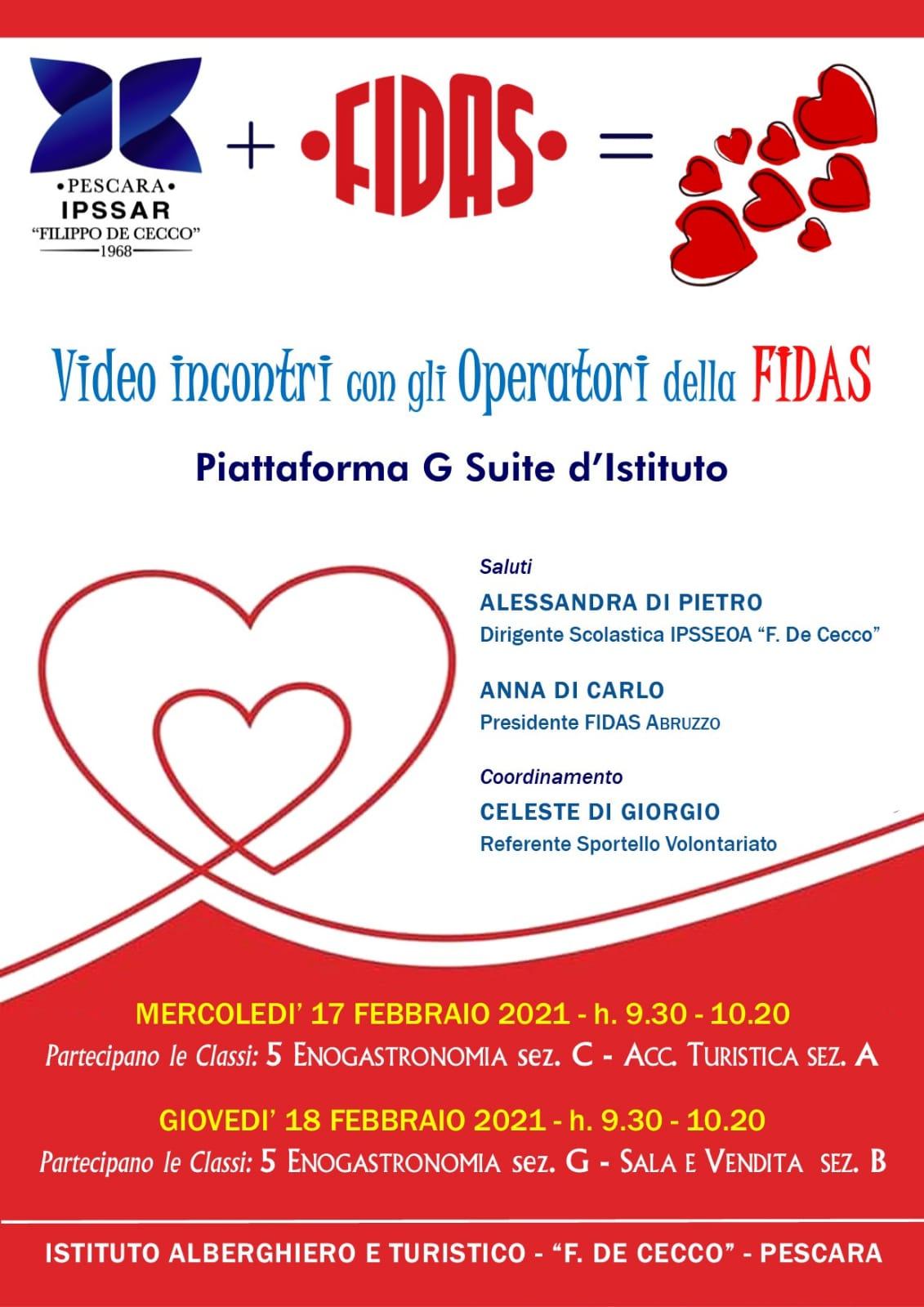 Videoincontri con la FIDAS