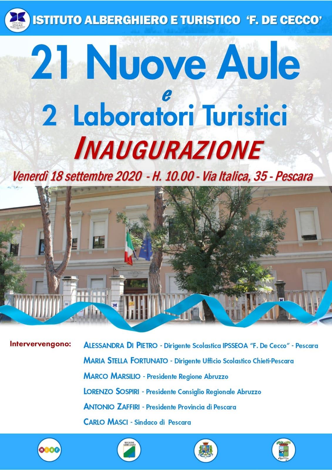 Inaugurazione delle Aule di via Italica